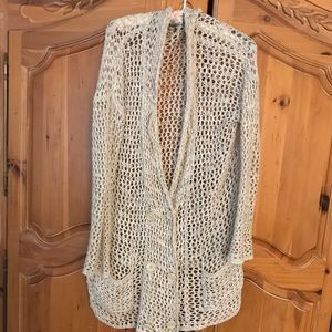 Free People crocheted blazer size small